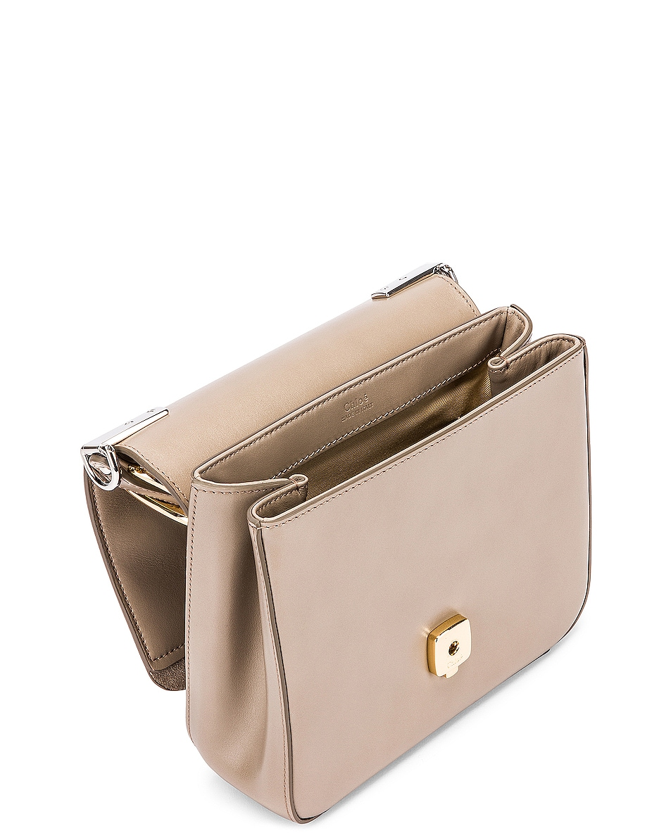Image 5 of Chloe Small C Box Bag in Motty Grey