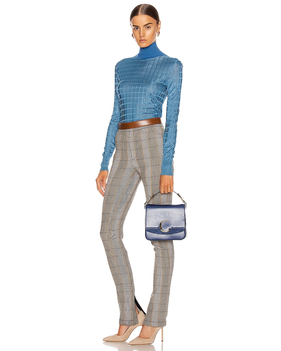 Image 2 of Chloe Small C Box Bag in Captive Blue