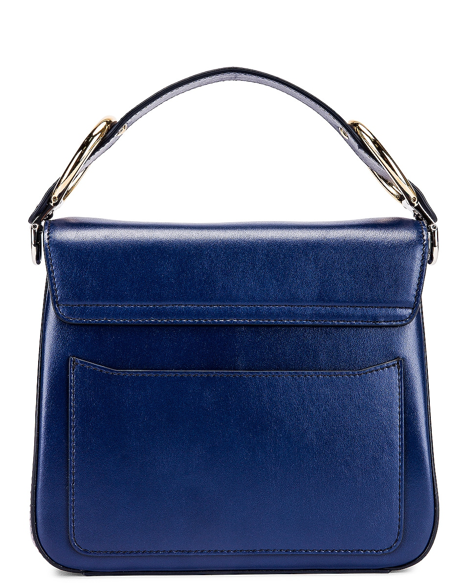 Image 3 of Chloe Small C Box Bag in Captive Blue