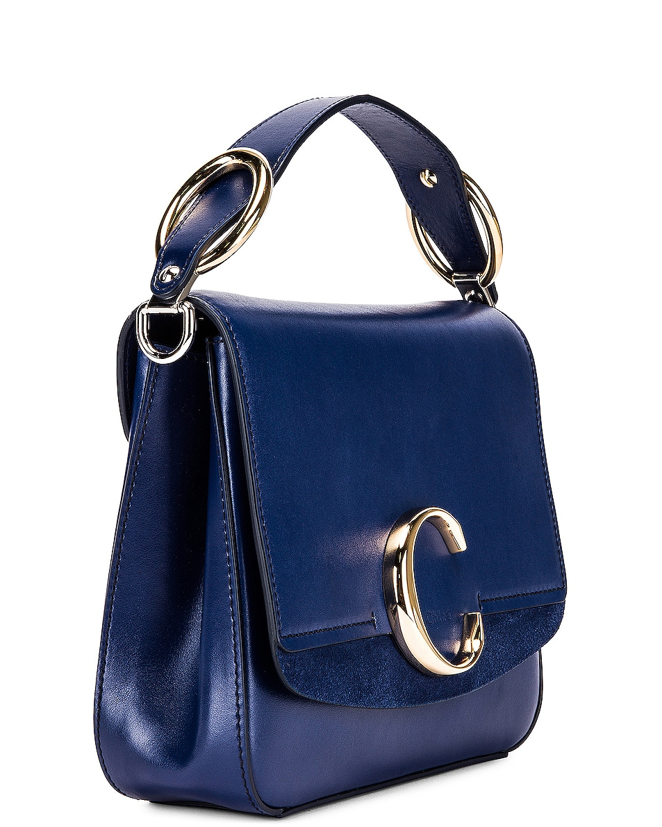 Image 4 of Chloe Small C Box Bag in Captive Blue