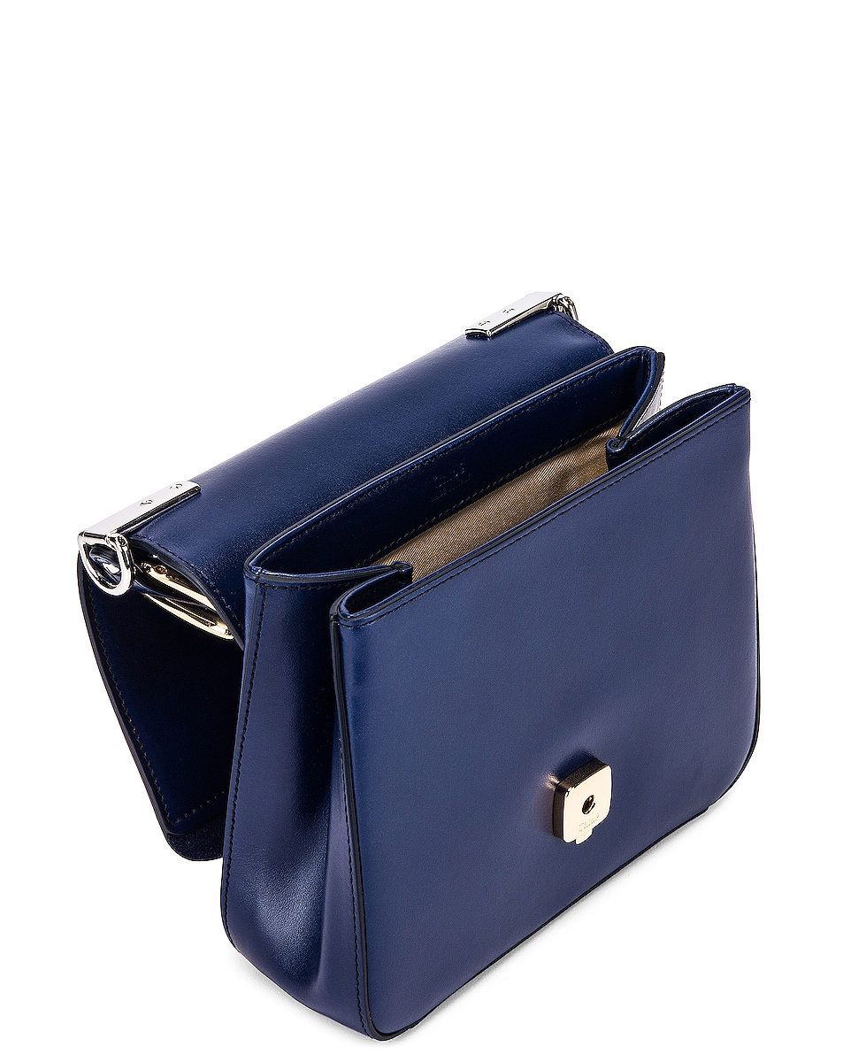 Image 5 of Chloe Small C Box Bag in Captive Blue