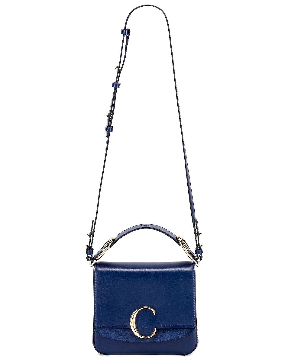 Image 6 of Chloe Small C Box Bag in Captive Blue