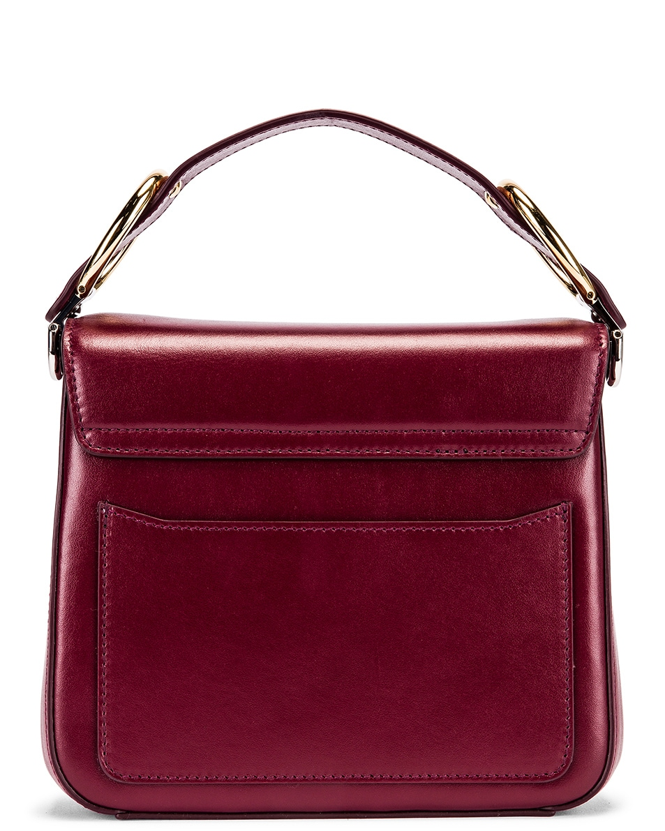 Image 3 of Chloe Small C Box Bag in Burnt Mahogany
