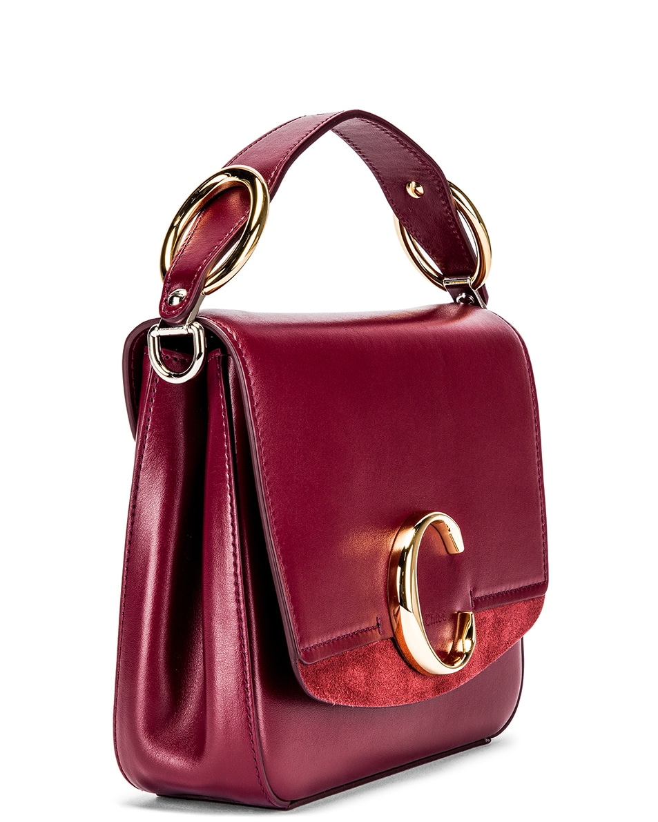Image 4 of Chloe Small C Box Bag in Burnt Mahogany