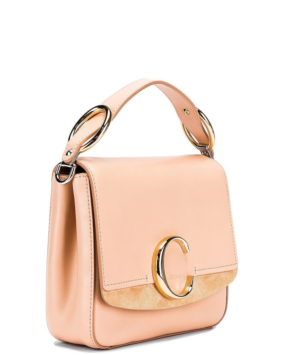 Image 4 of Chloe Small C Box Bag in Delicate Pink