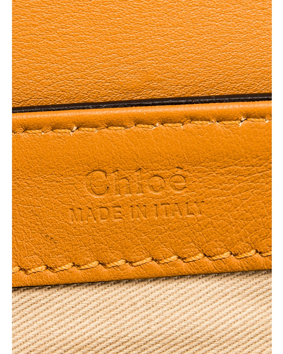 Image 7 of Chloe Small C Embossed Croc Box Bag in Autumnal Brown