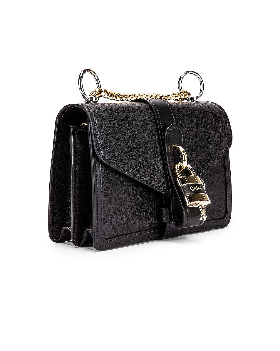 Image 3 of Chloe Aby Chain Shoulder Bag in Black