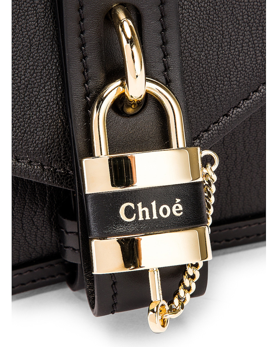 Image 7 of Chloe Aby Chain Shoulder Bag in Black