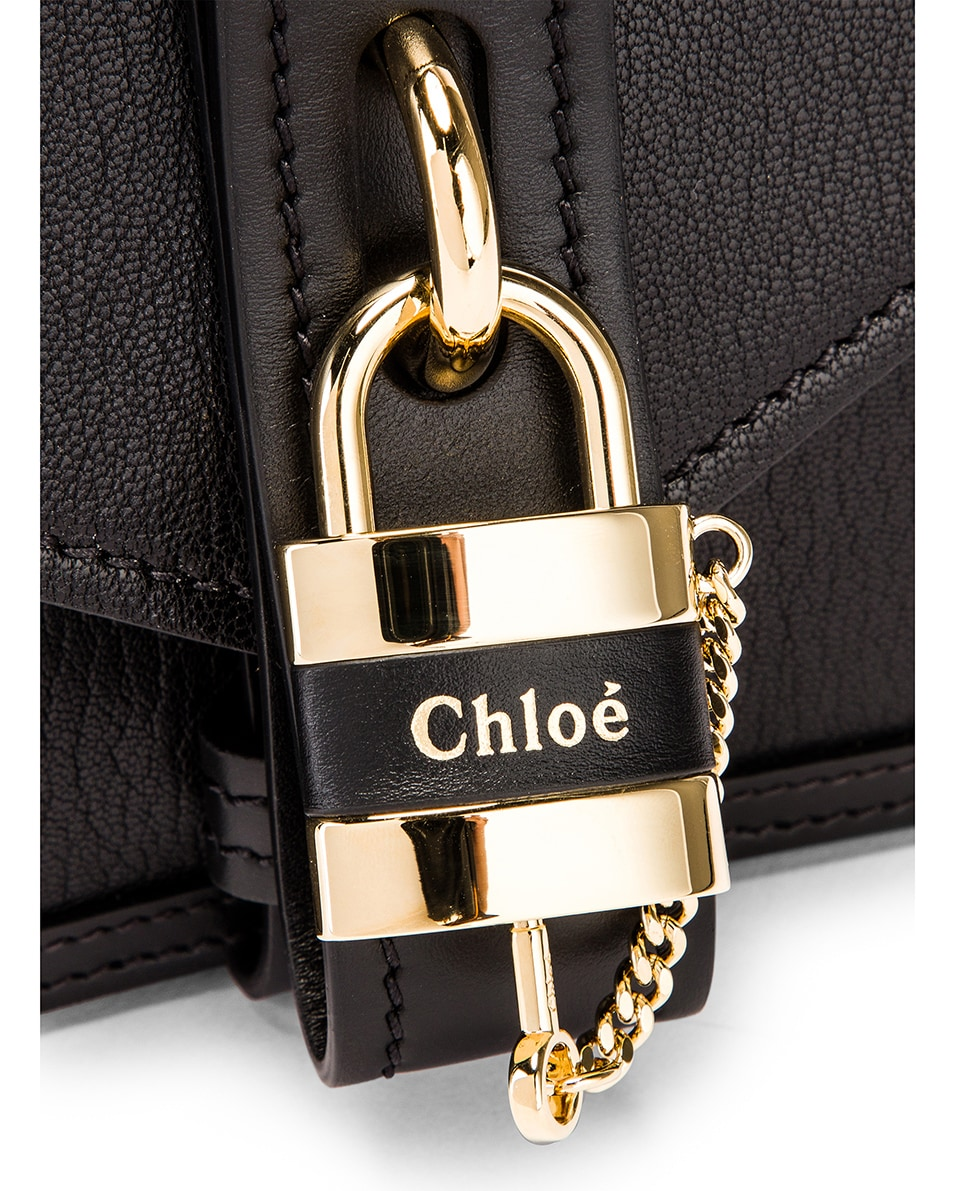 Image 8 of Chloe Aby Chain Shoulder Bag in Black