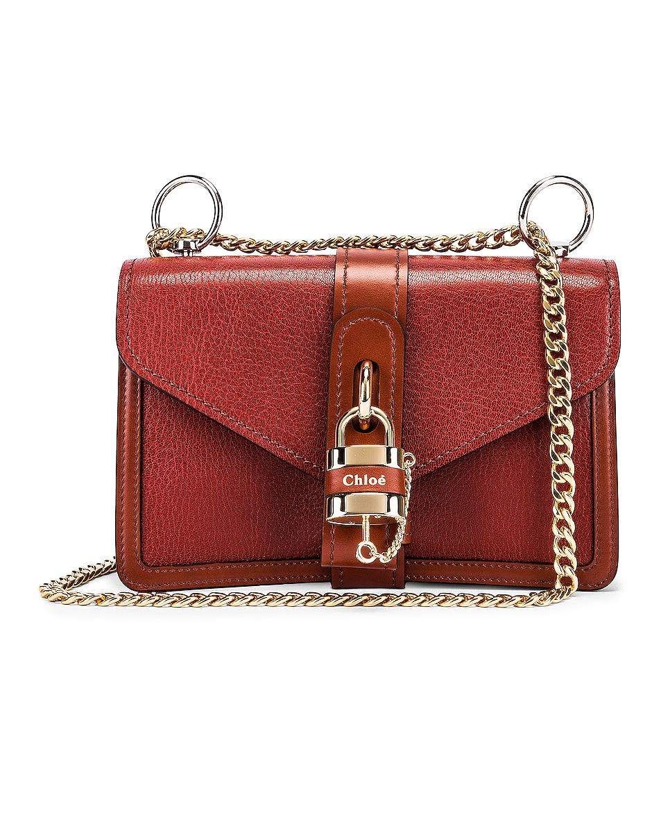 Image 1 of Chloe Aby Chain Shoulder Bag in Sepia Brown