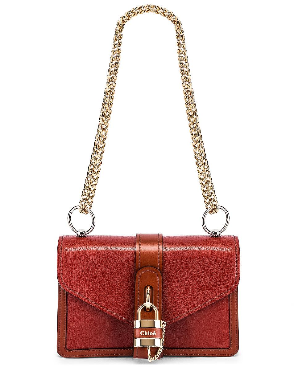 Image 5 of Chloe Aby Chain Shoulder Bag in Sepia Brown