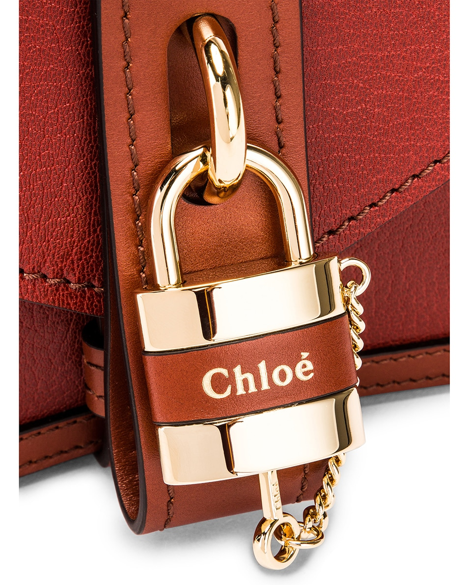 Image 8 of Chloe Aby Chain Shoulder Bag in Sepia Brown