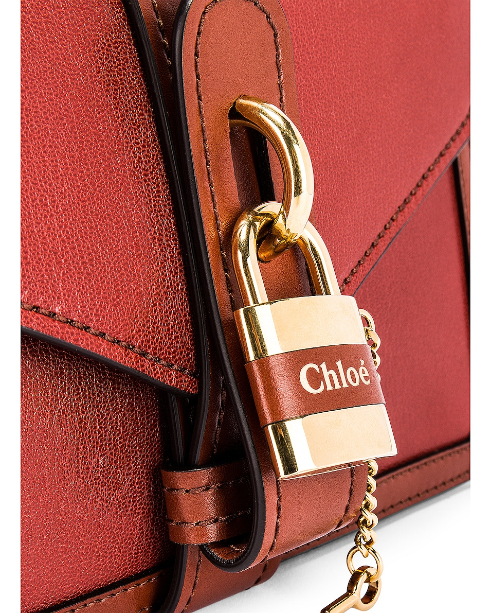 Image 4 of Chloe Aby Chain Shoulder Bag in Burnt Mahogany