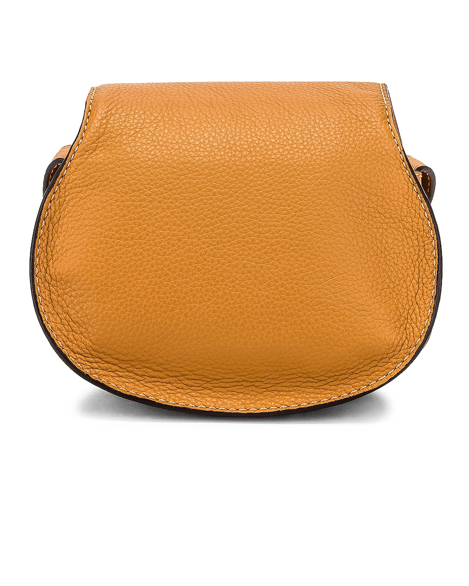 Image 3 of Chloe Small Marcie Grained Calfskin Saddle Bag in Autumal Brown