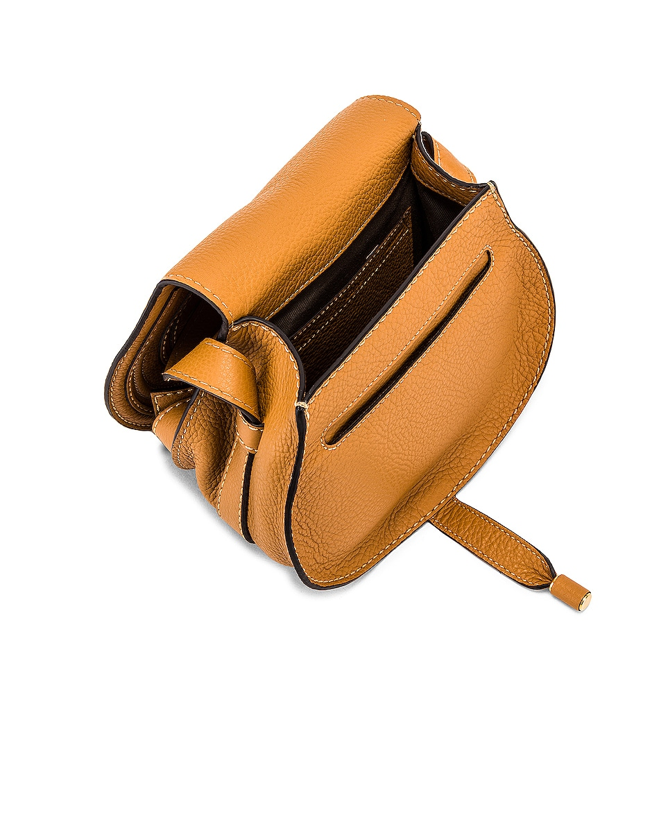 Image 5 of Chloe Small Marcie Grained Calfskin Saddle Bag in Autumal Brown