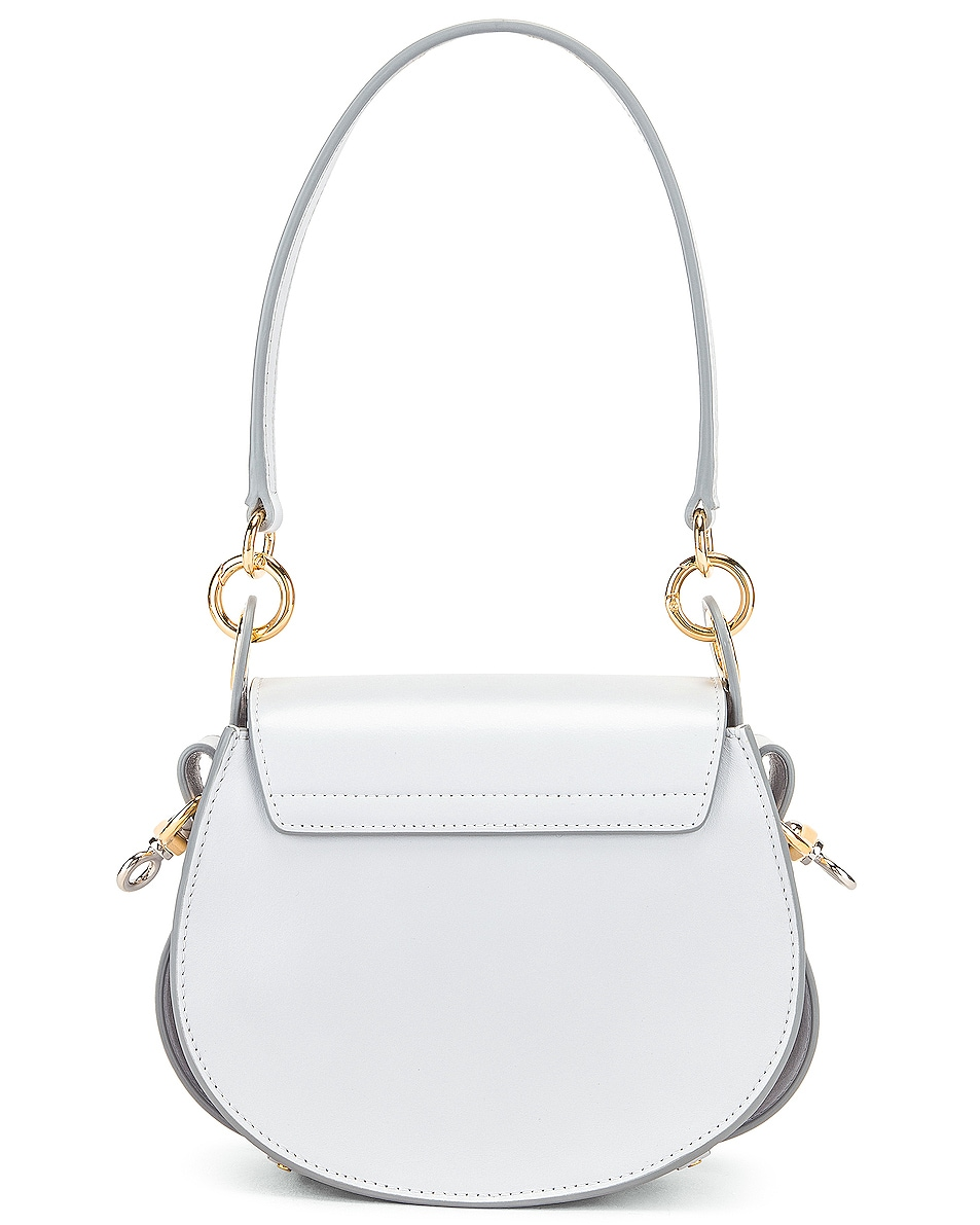 Image 3 of Chloe Small Tess Shiny Calfskin Shoulder Bag in Light Cloud
