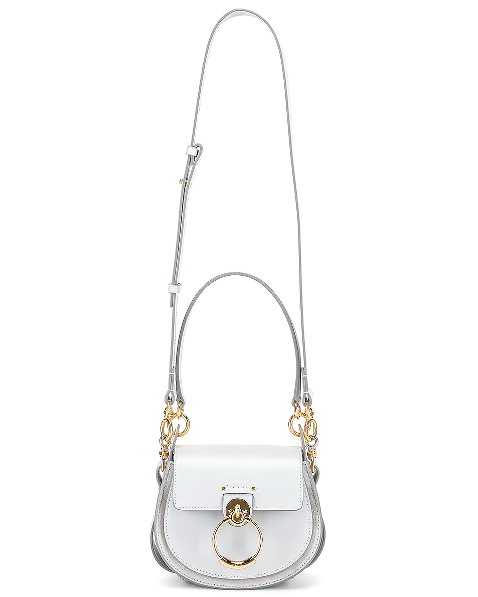 Image 6 of Chloe Small Tess Shiny Calfskin Shoulder Bag in Light Cloud