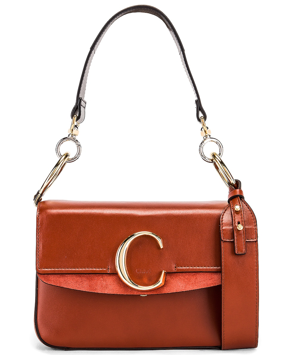Image 1 of Chloe C Crossbody Bag in Sepia Brown