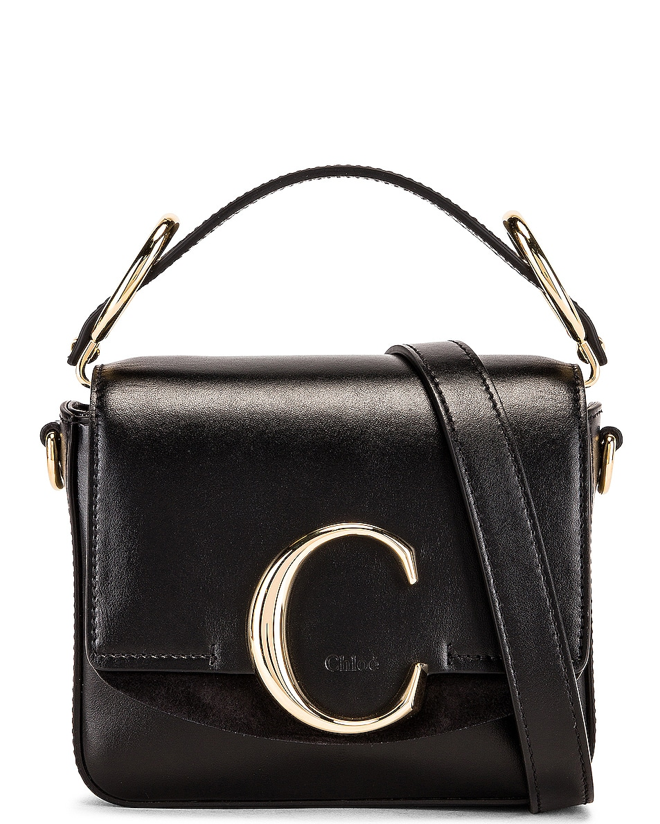 Image 1 of Chloe C Mini Box Bag in Black
