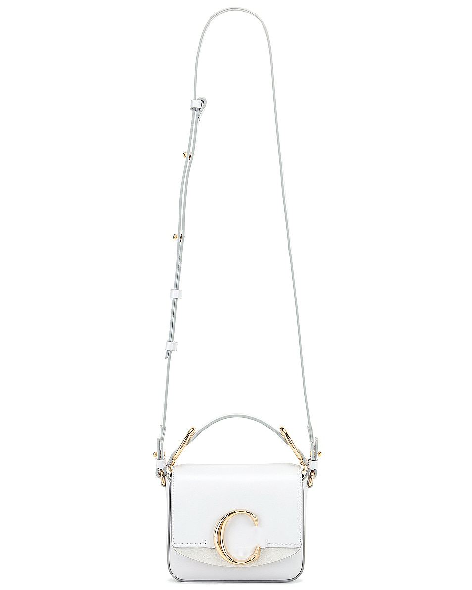 Image 6 of Chloe C Mini Box Bag in Light Cloud