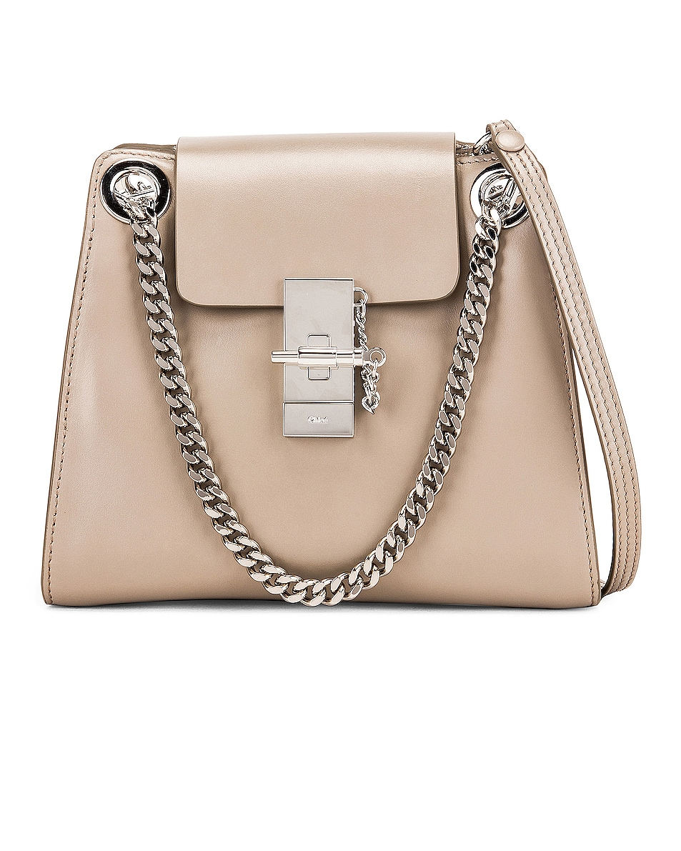 Image 1 of Chloe Small Leather Annie Bag in Motty Grey