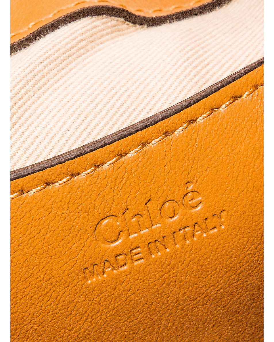 Image 7 of Chloe Small Tess Embossed Croco Shoulder Bag in Autumnal Brown