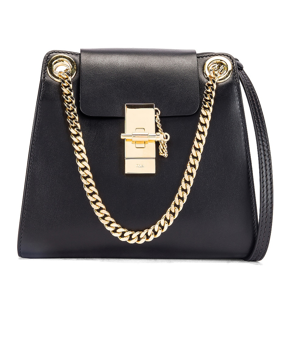 Image 1 of Chloe Small Leather Annie Bag in Black