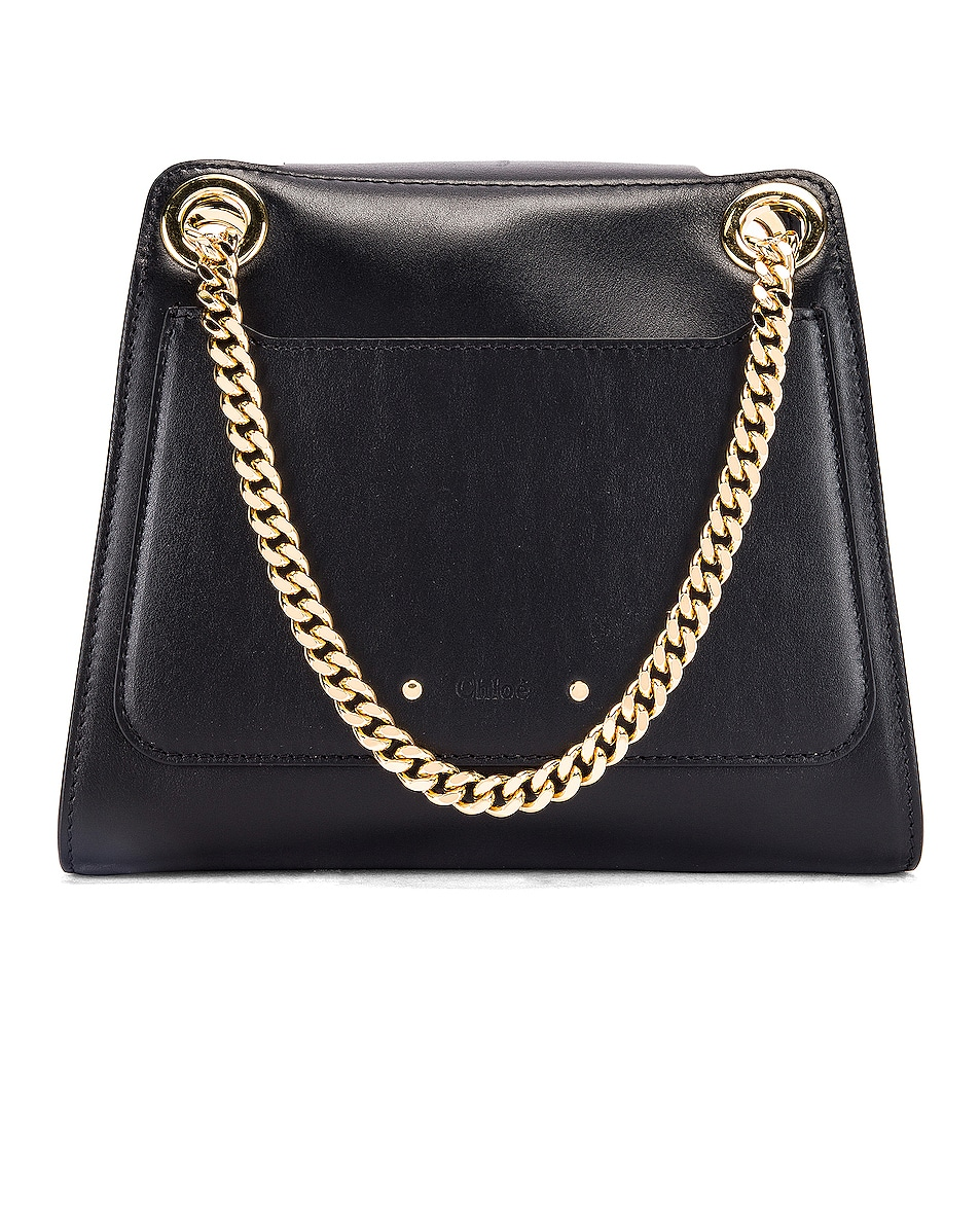Image 3 of Chloe Small Leather Annie Bag in Black