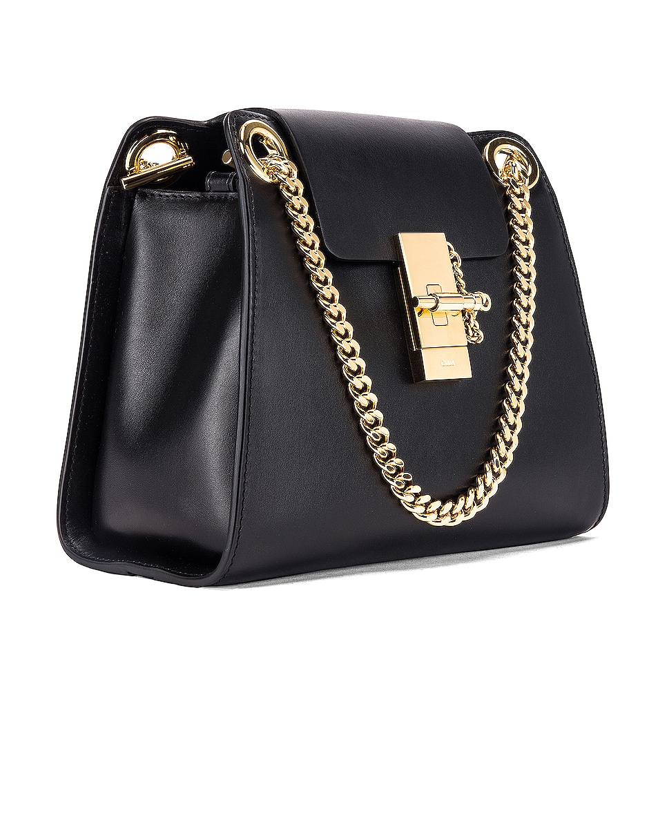 Image 4 of Chloe Small Leather Annie Bag in Black