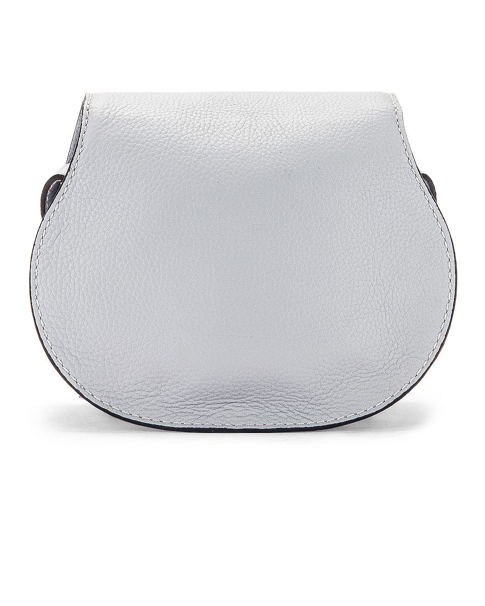 Image 3 of Chloe Small Marcie Grained Calfskin Saddle Bag in Light Cloud