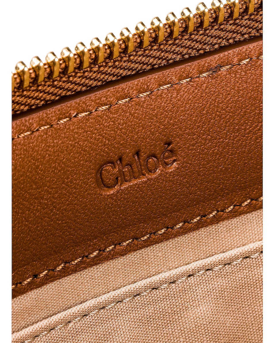 Image 6 of Chloe Logo & Stripes Pouch in Caramel