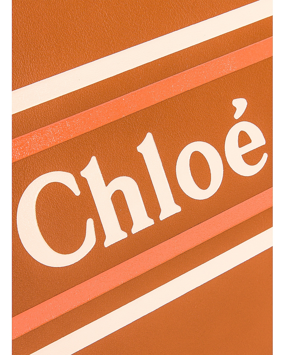 Image 7 of Chloe Logo & Stripes Pouch in Caramel