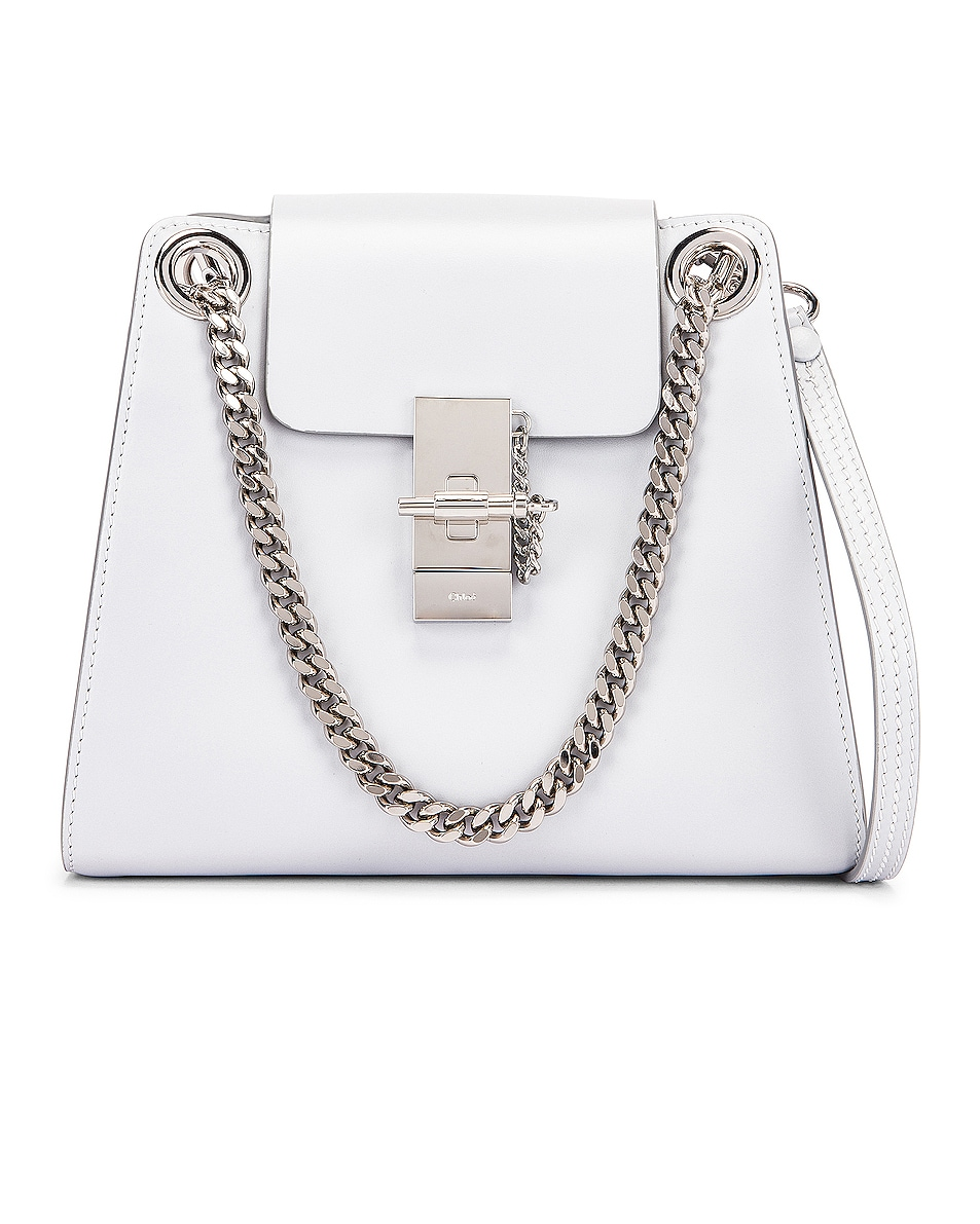 Image 1 of Chloe Small Leather Annie Bag in Light Cloud