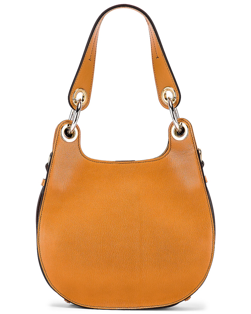 Image 3 of Chloe Small Tess Leather Hobo Bag in Autumnal Brown