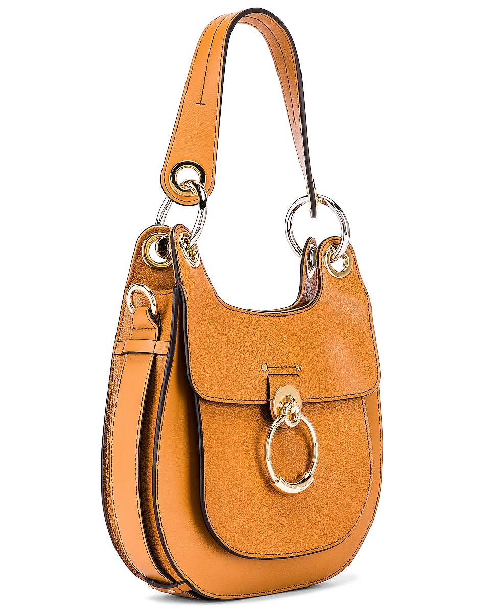 Image 4 of Chloe Small Tess Leather Hobo Bag in Autumnal Brown