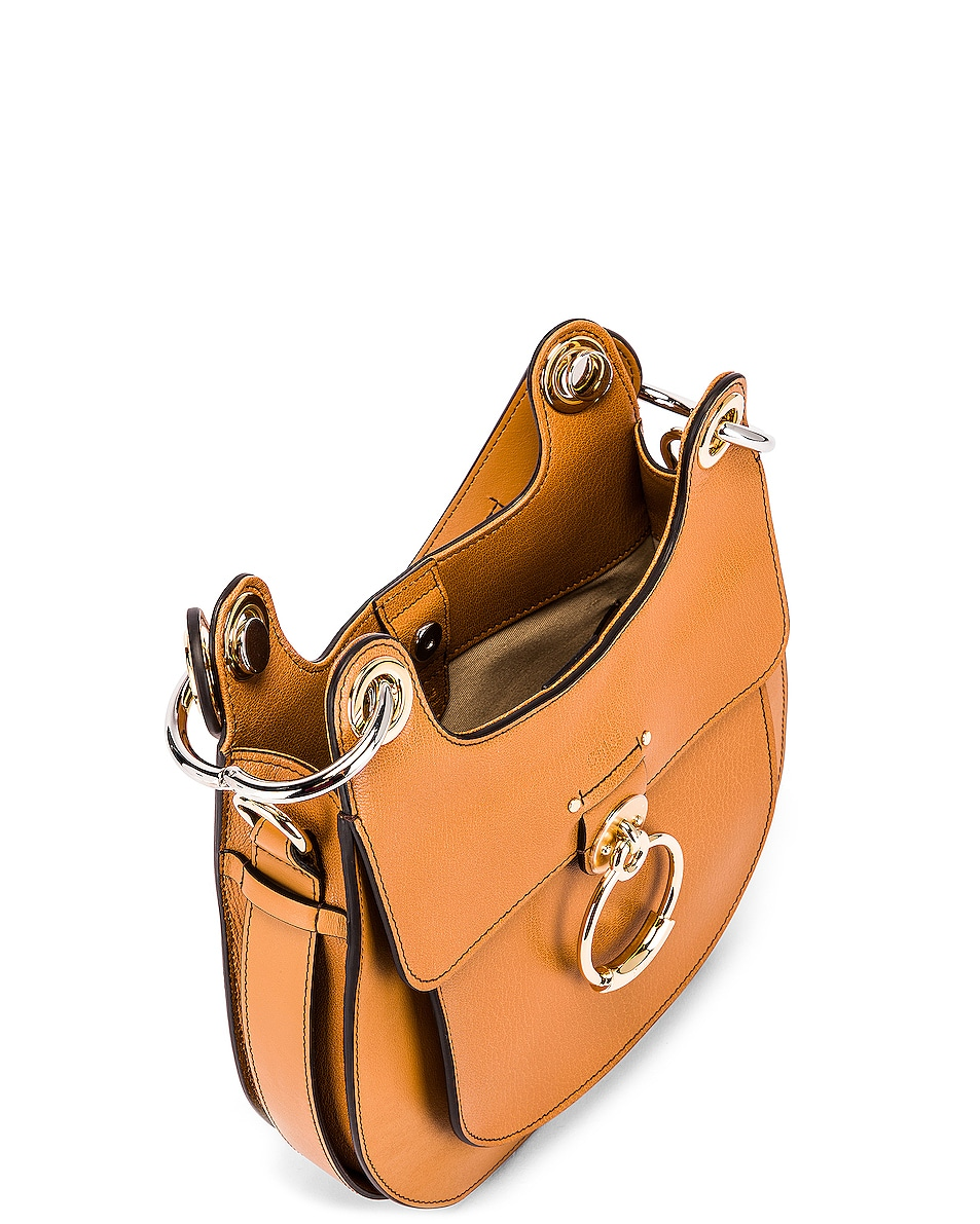 Image 5 of Chloe Small Tess Leather Hobo Bag in Autumnal Brown