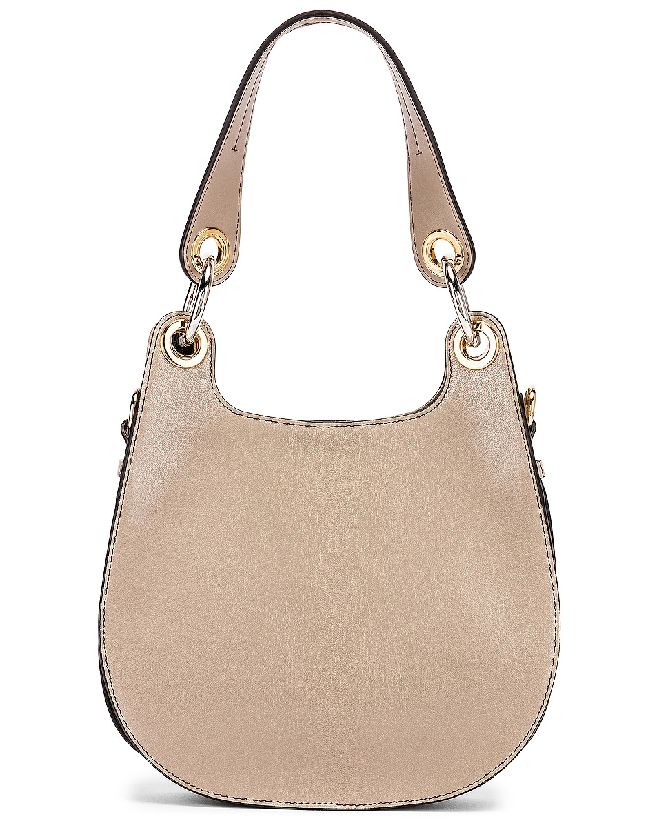 Image 3 of Chloe Small Tess Leather Hobo Bag in Motty Grey