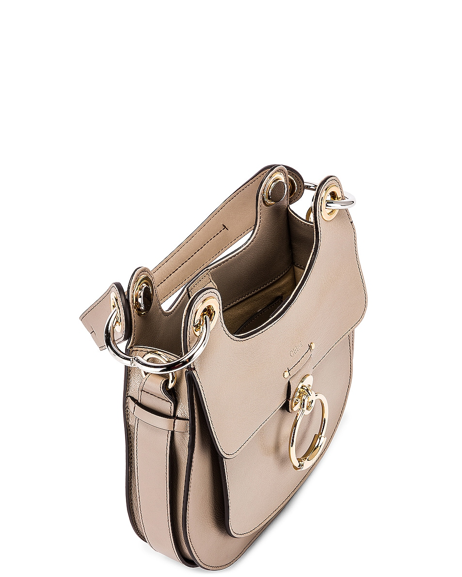 Image 5 of Chloe Small Tess Leather Hobo Bag in Motty Grey