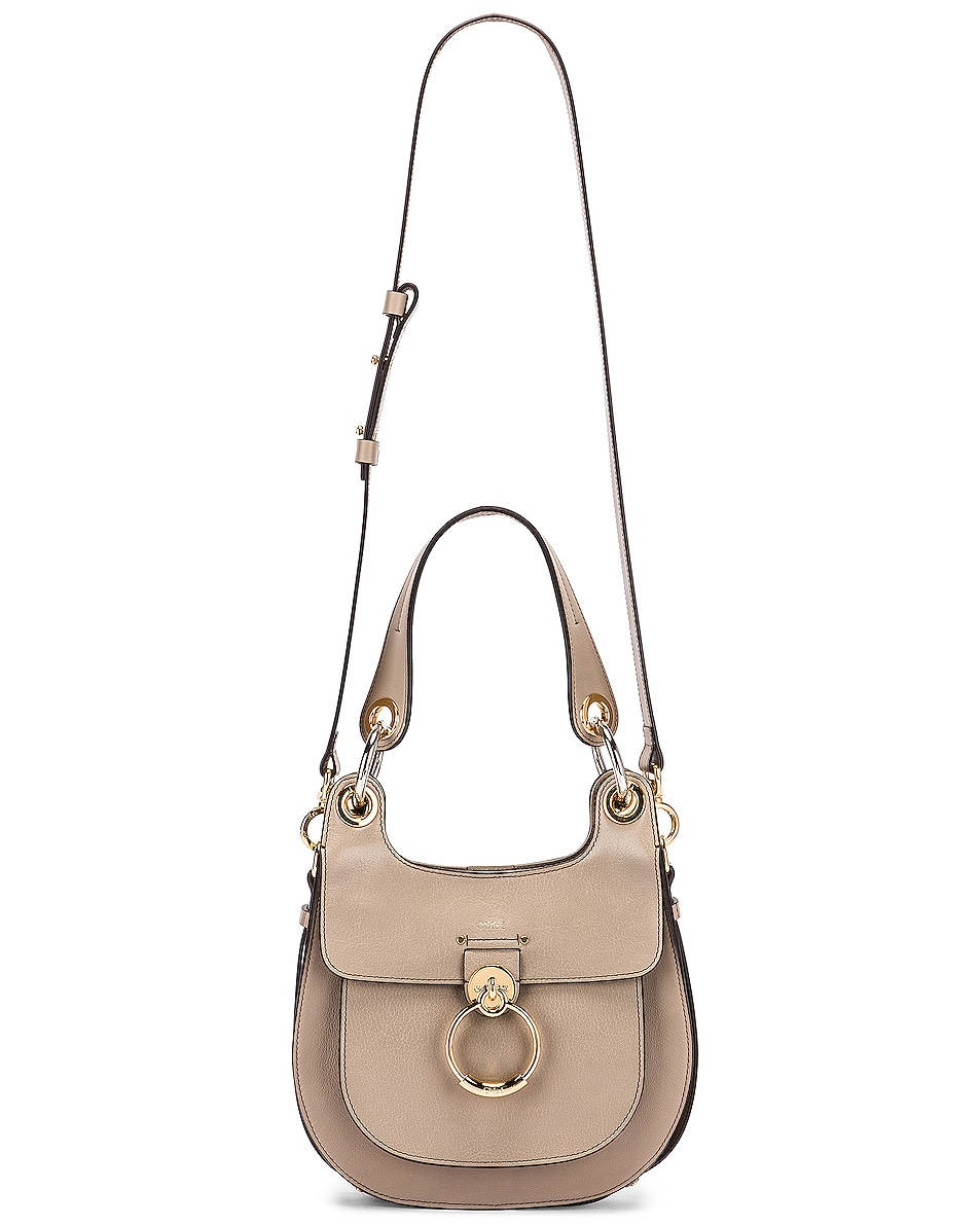 Image 6 of Chloe Small Tess Leather Hobo Bag in Motty Grey