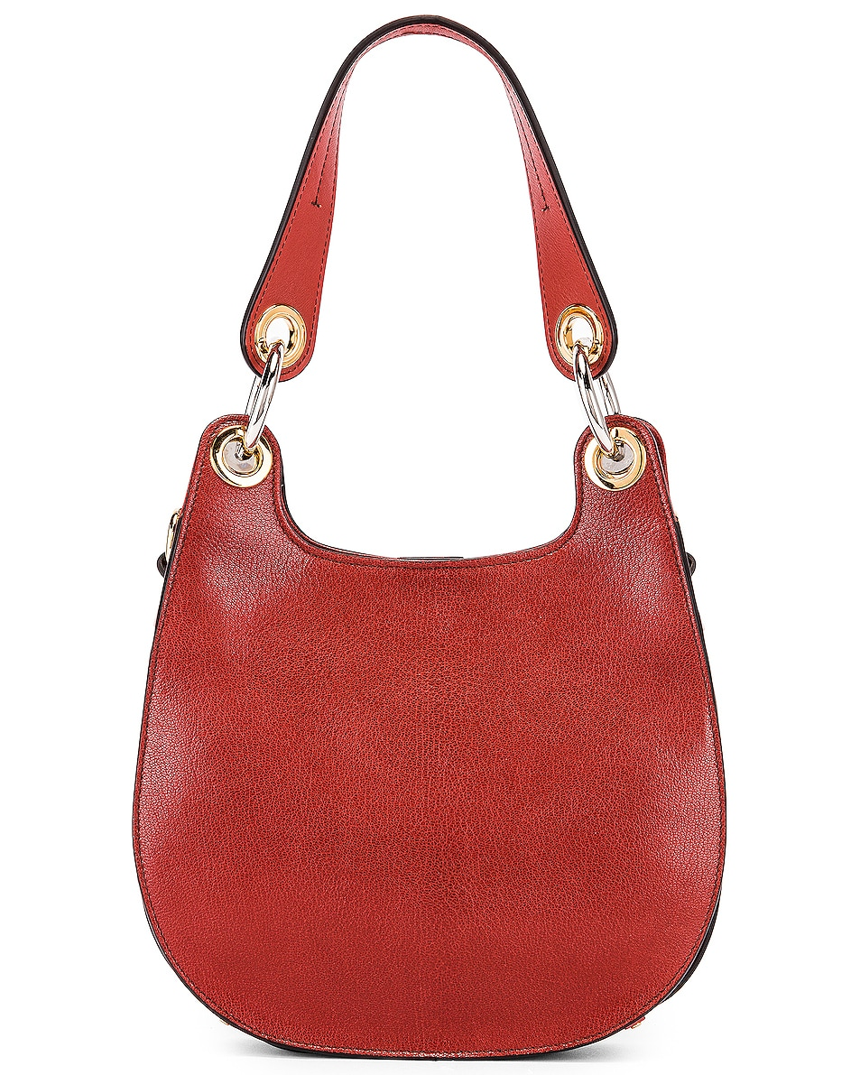 Image 3 of Chloe Small Tess Leather Hobo Bag in Sepia Brown