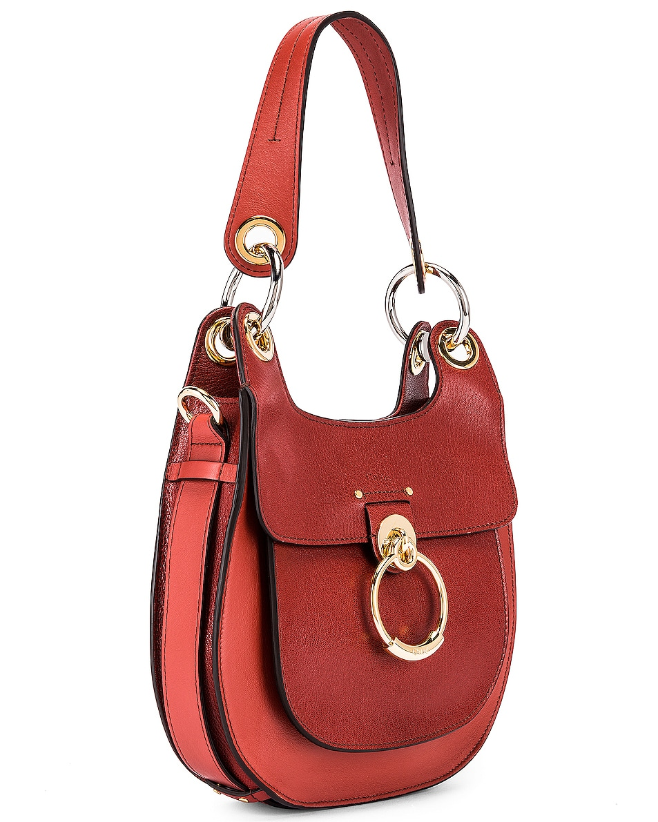 Image 4 of Chloe Small Tess Leather Hobo Bag in Sepia Brown
