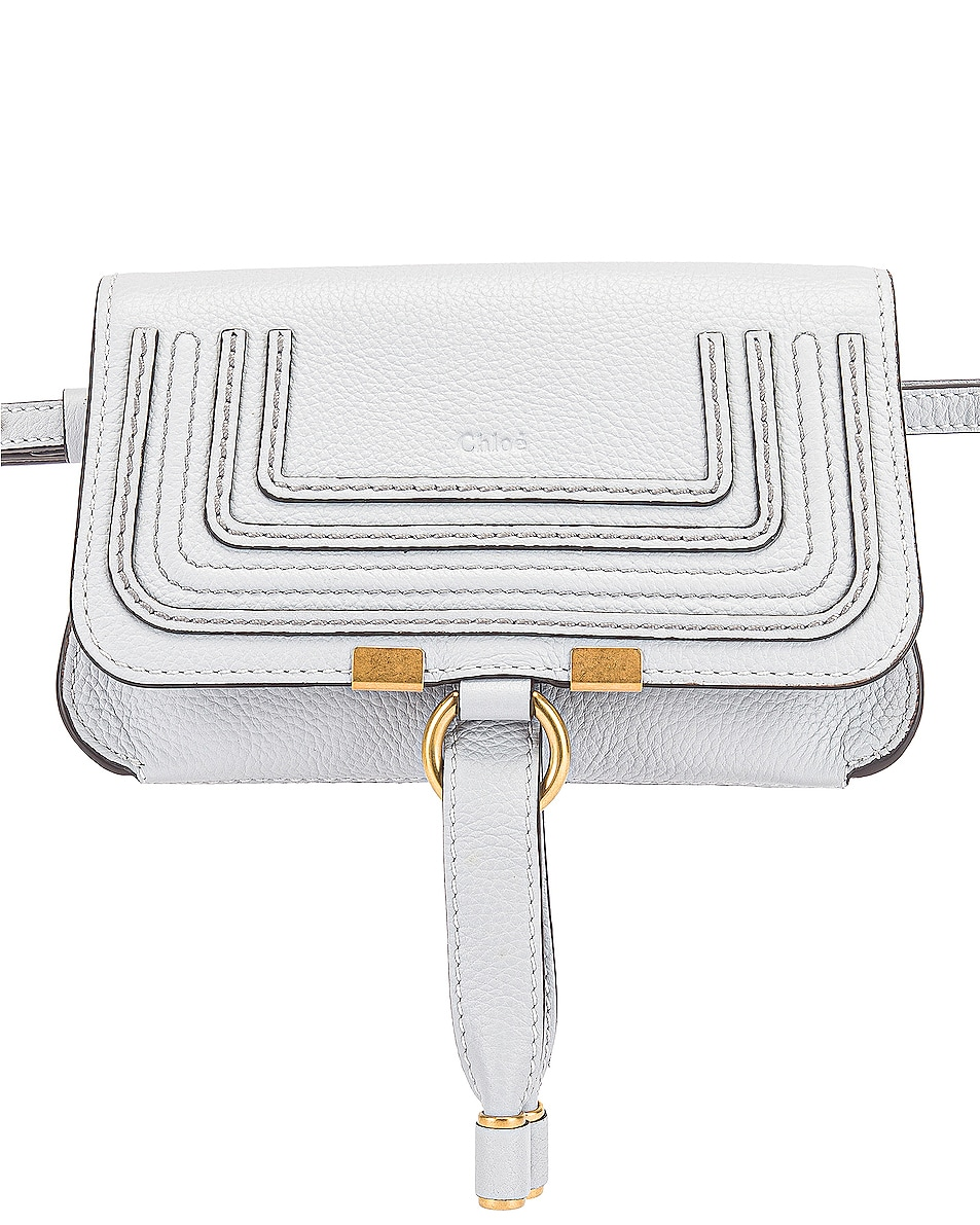 Image 1 of Chloe Small Marcie Grained Calfskin Belt Bag in Light Cloud