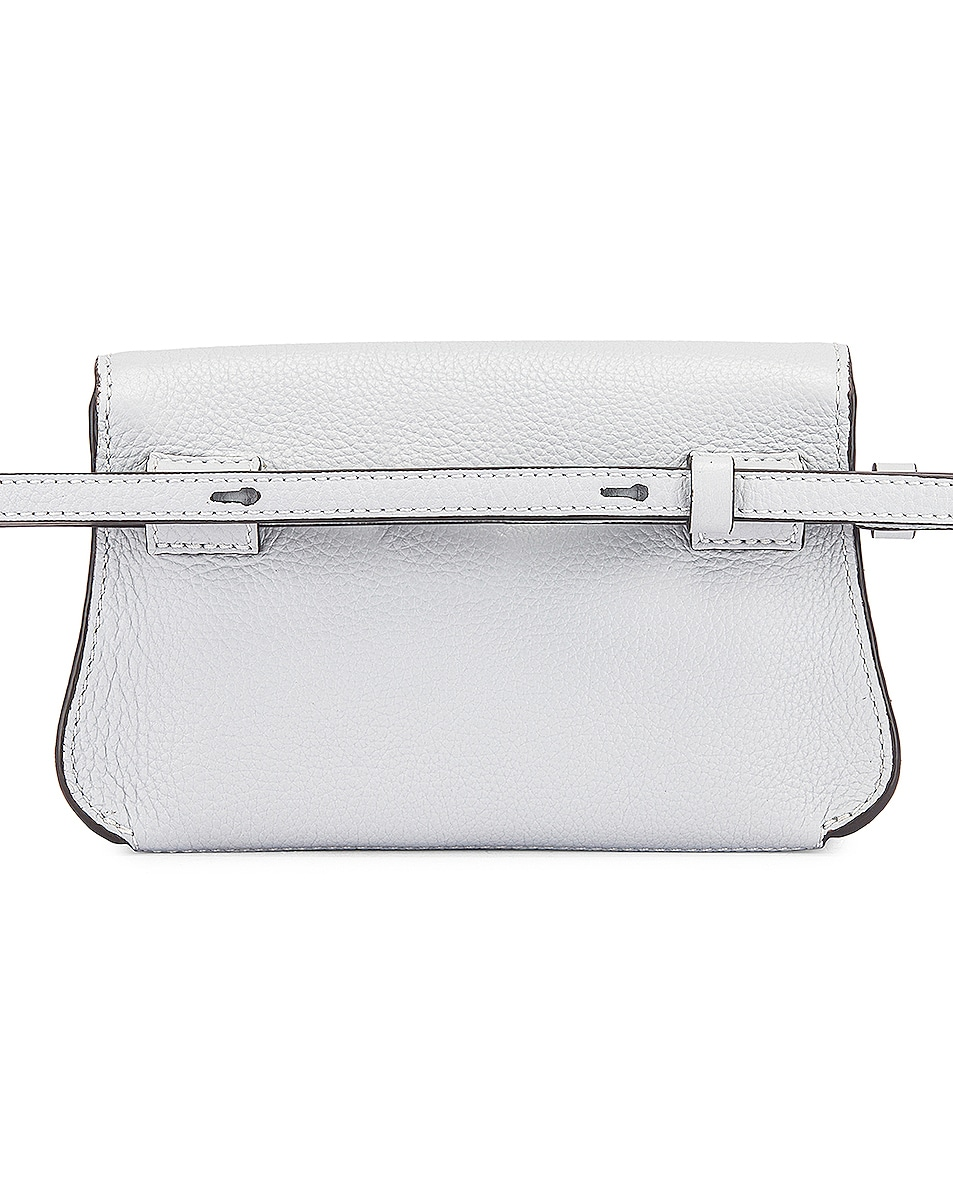 Image 3 of Chloe Small Marcie Grained Calfskin Belt Bag in Light Cloud