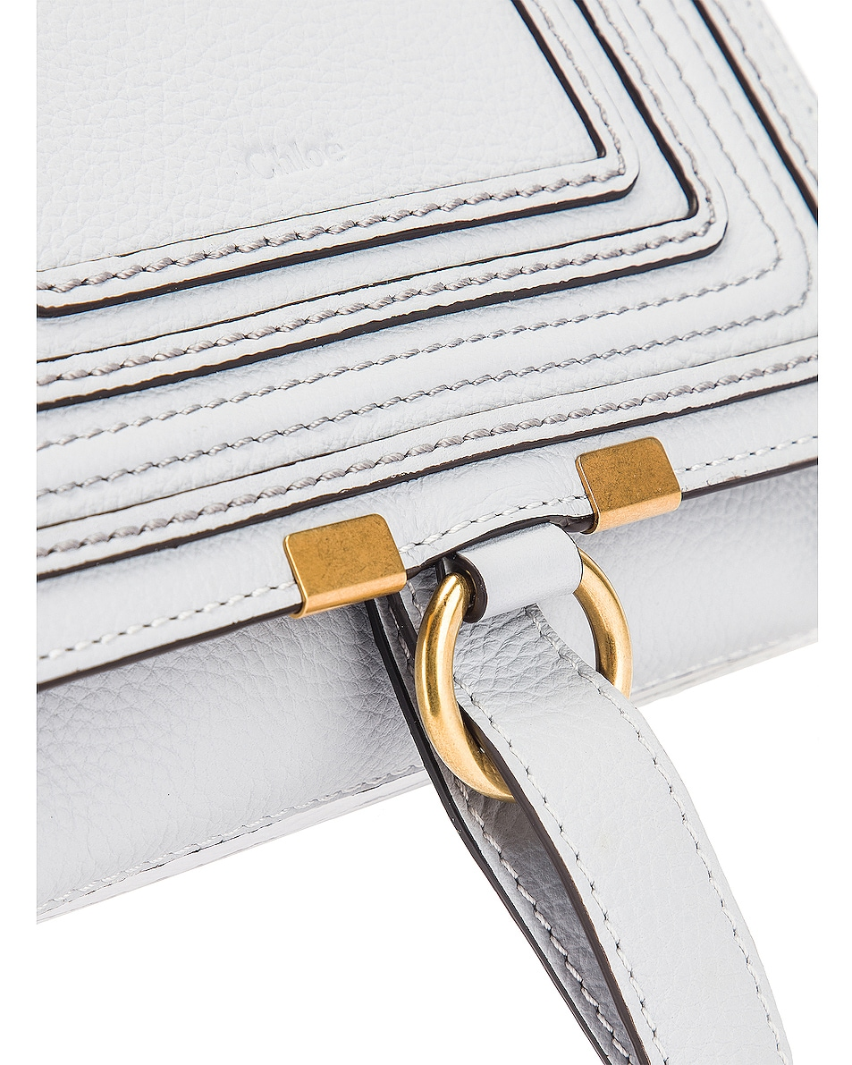 Image 7 of Chloe Small Marcie Grained Calfskin Belt Bag in Light Cloud