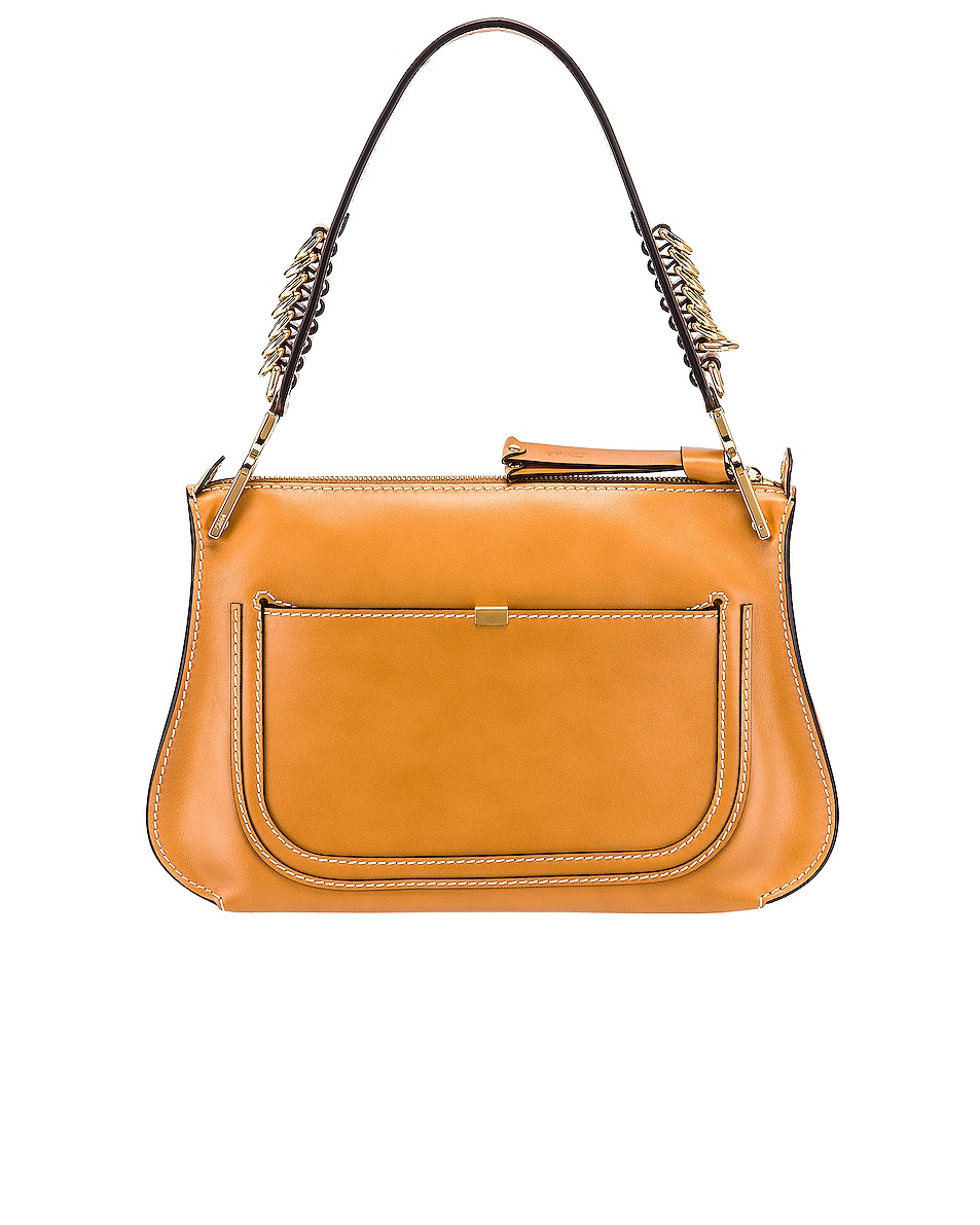 Image 3 of Chloe Medium Marcie Leather Saddle Bag in Autumnal Brown