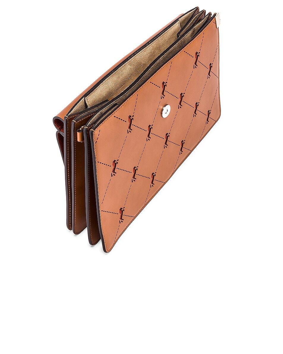Image 5 of Chloe Medium Faye Perforated Horses Shoulder Bag in Caramel