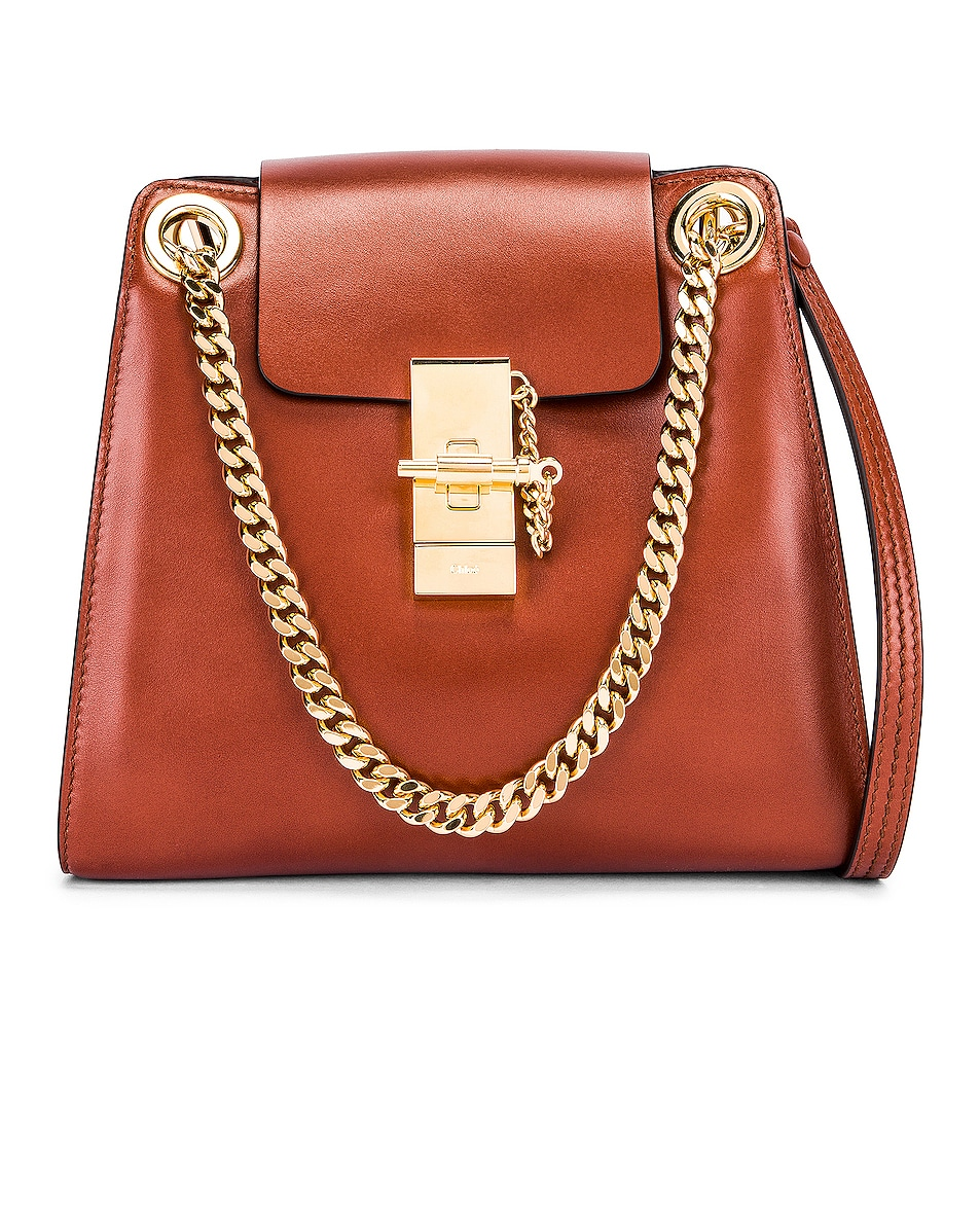 Image 1 of Chloe Small Leather Annie Bag in Sepia Brown