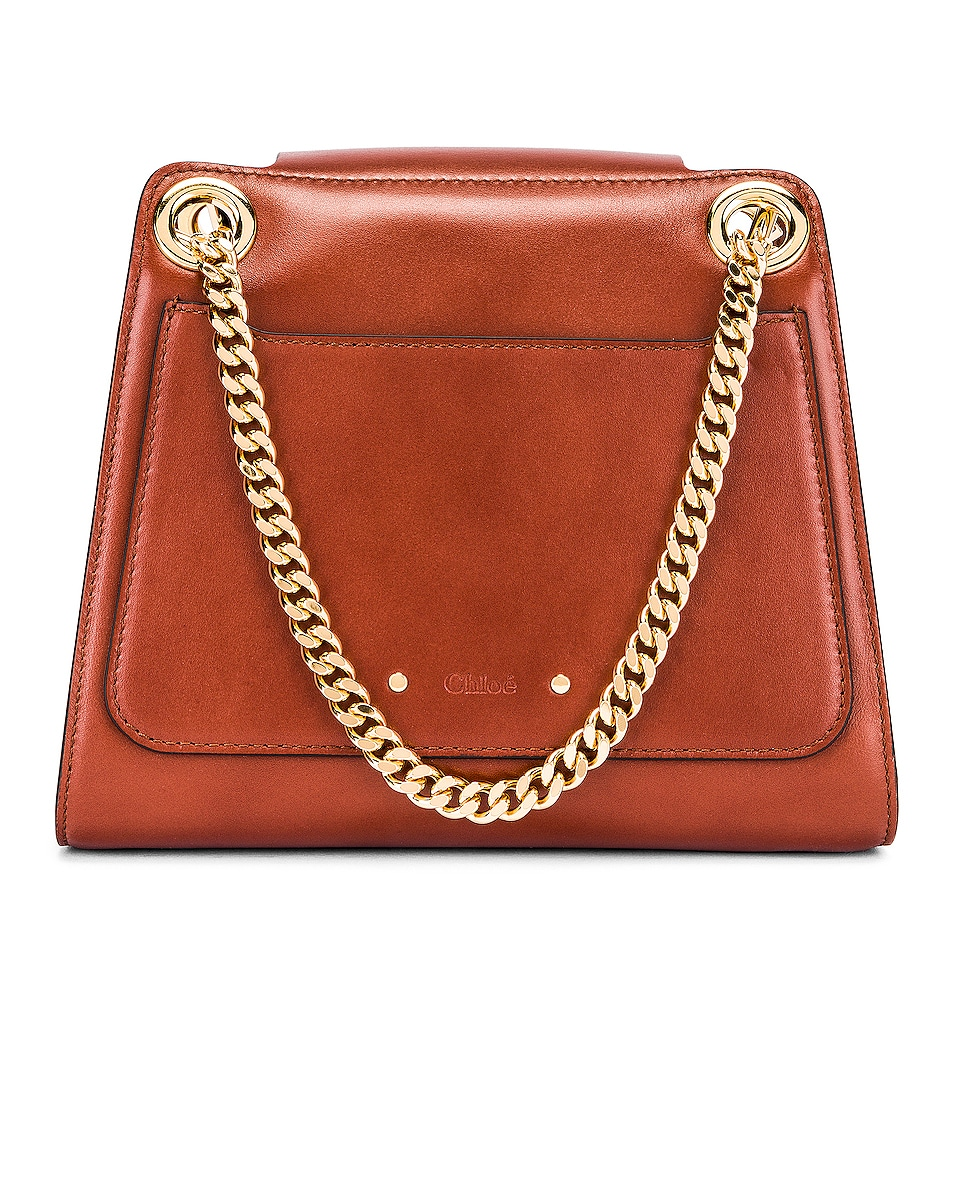 Image 3 of Chloe Small Leather Annie Bag in Sepia Brown