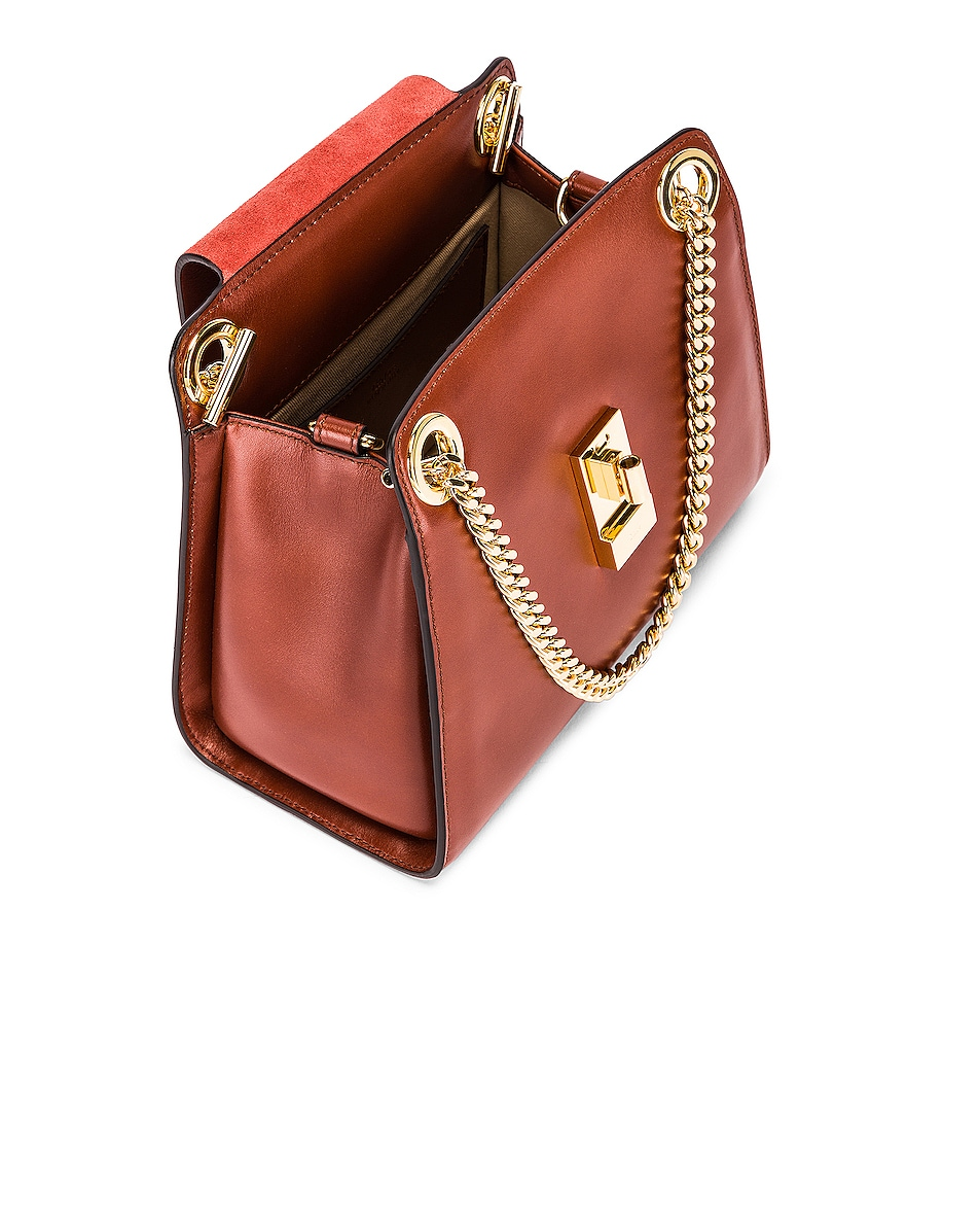 Image 5 of Chloe Small Leather Annie Bag in Sepia Brown