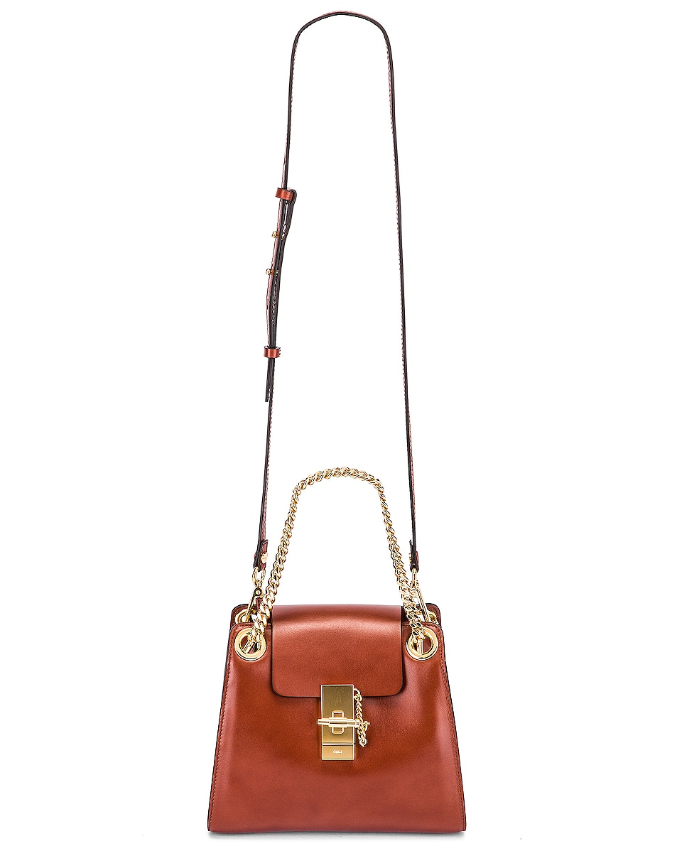 Image 6 of Chloe Small Leather Annie Bag in Sepia Brown